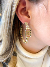 Load image into Gallery viewer, CC Pave & Pearl Hoops