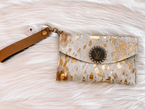 Only Little Things Cowhide Wristlet