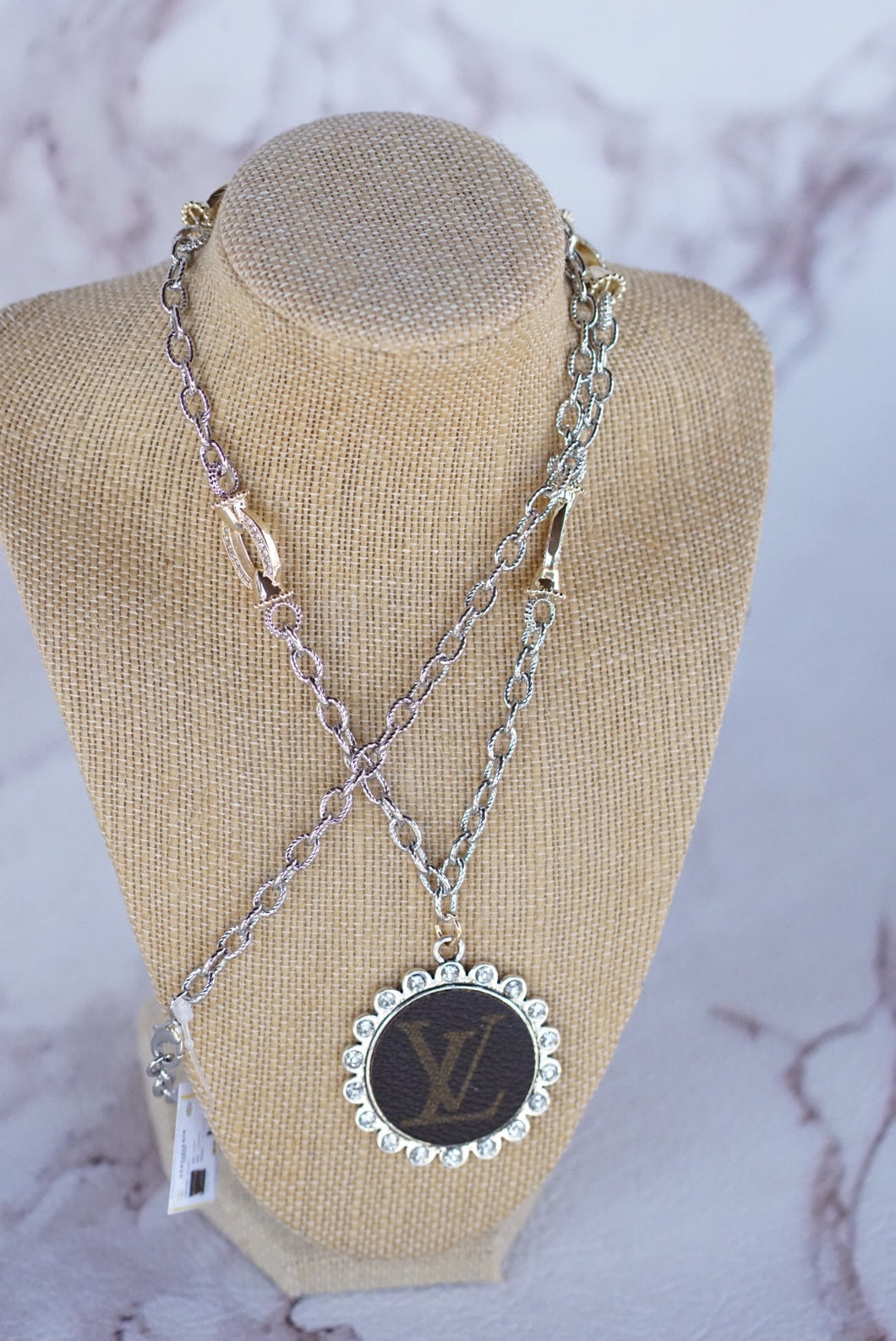 Silver Chain With Gold Accent Necklace