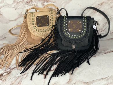 Fringe Purse with Repurposed LV