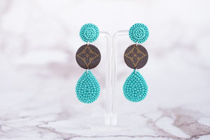 Pop Of Color Repurposed LV Earrings