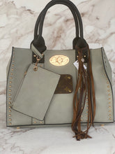 Load image into Gallery viewer, LV Medium Grey Studded Tote