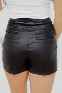 Here For A Drink Leather Shorts