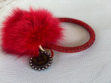 Load image into Gallery viewer, Rhinestone LV O Ring With Pom
