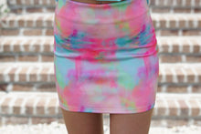 Load image into Gallery viewer, Tie Dye Mini Skirt