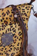 Load image into Gallery viewer, Sassy Suzy Leopard Repurposed LV Purse
