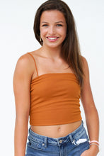 Load image into Gallery viewer, Cool Girl Vibes Ribbed Cropped Cami