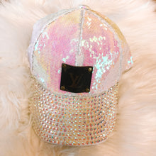 Load image into Gallery viewer, Sequins & Bling LV Hat
