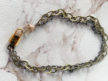 Load image into Gallery viewer, Double Chain Repurposed LV Lock Necklace