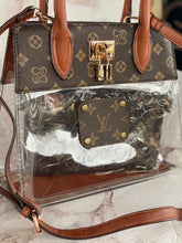 Load image into Gallery viewer, Clear Cognac Repurposed Louis Vuitton Purse