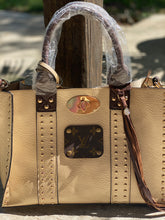 Load image into Gallery viewer, Leather & Gold LV Purse