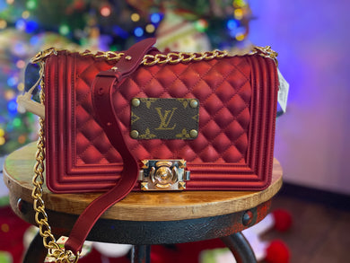 Repurposed LV Purse With Chain