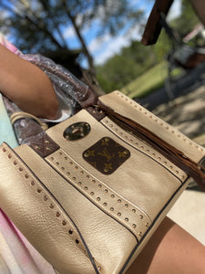 Leather & Gold LV Purse