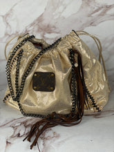Load image into Gallery viewer, Dripping in Gold Repurposed LV Purse