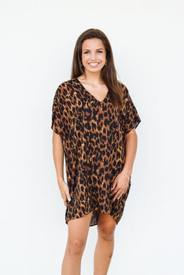 On The Run Leopard Tunic Dress