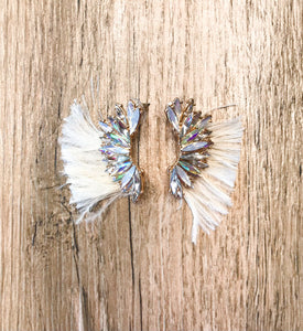 Marquise Wing & Tassel Earrings