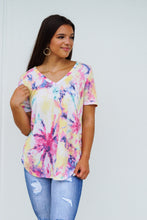 Load image into Gallery viewer, Terry Tie Dye V Neck