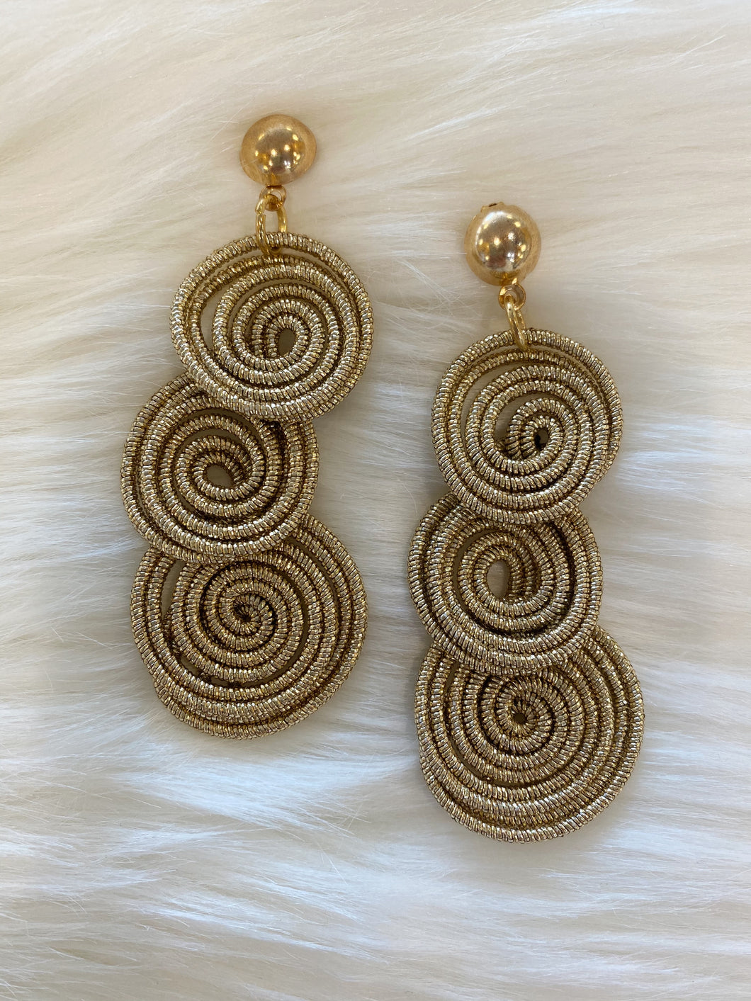 Gold Circle Wire Earrings