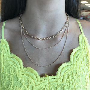 Kade Layered Necklace with Link Chain