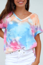 Load image into Gallery viewer, Sunset Tie Dye Waffle Knit Tee