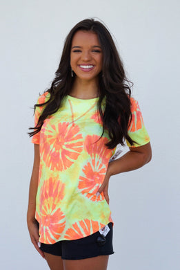 Summer Sunset Tie Dye Tee