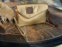 Load image into Gallery viewer, Repurposed LV Gold Zipper Purse