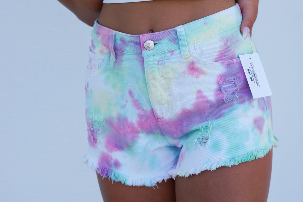 Out Of My Mind Tie Dye Shorts