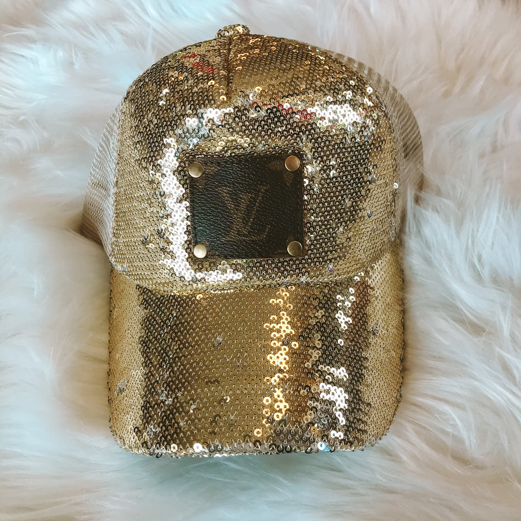 LV Mesh Sequin Hat