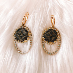 LV Crystal Circle Earrings