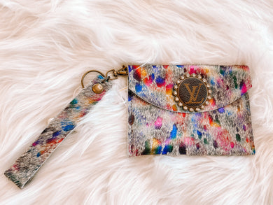 Unicorn Dreams Mini LV Wristlet