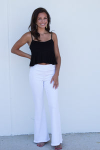 Frayed hem bell bottoms