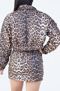 Winter Vacation Leopard Jacket