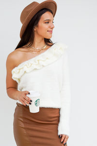 Cozy and Comfy Ruffled Sweater