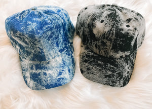 Acid wash baseball caps