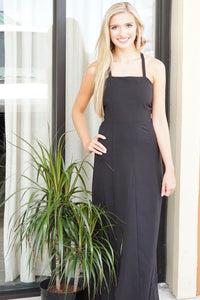 Maxi Dress With Criss Cross Back - Breazy's Boutique