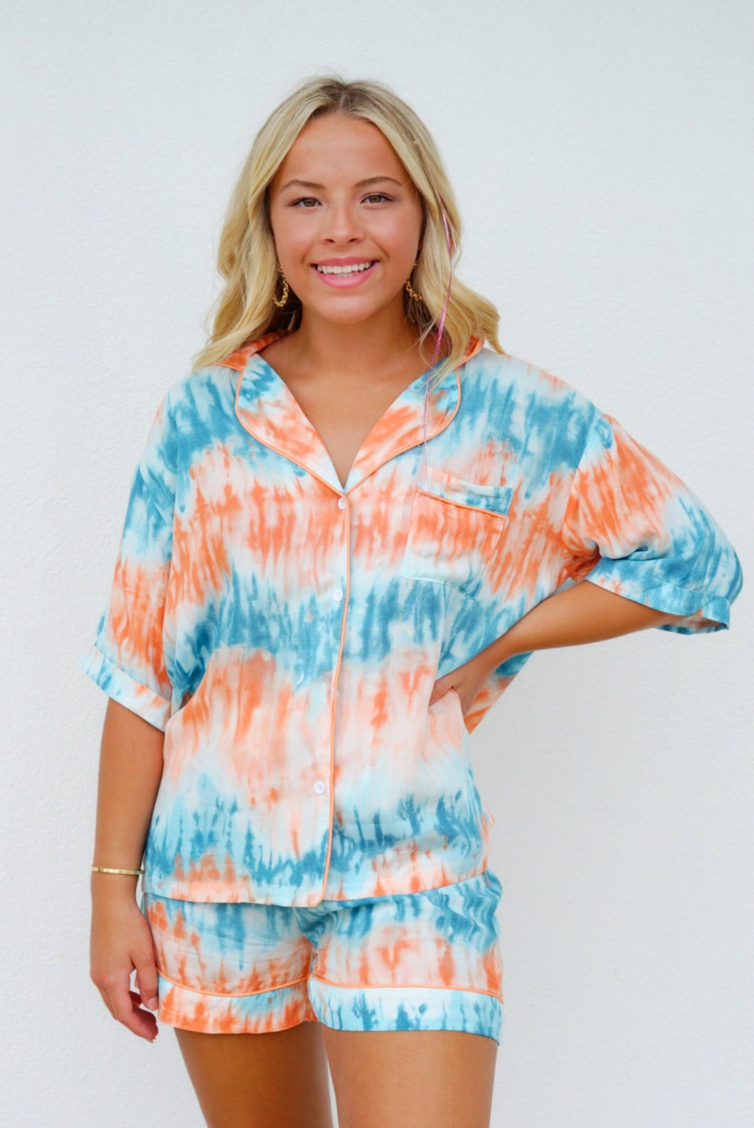 Sleep Walk Tie Dye Pajama Set