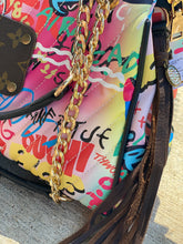 Load image into Gallery viewer, Repurposed LV Graffiti Purse