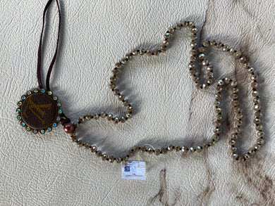 LV Bead Taupe Necklace