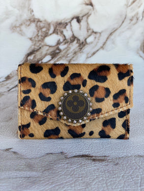LV Cheetah Card Holder