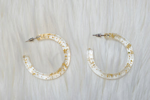 Gold Speck Hoop Earrings