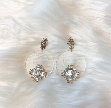 Crystal Beaded Circle Earrings