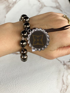 Repurposed LV Ball Chain Bracelet