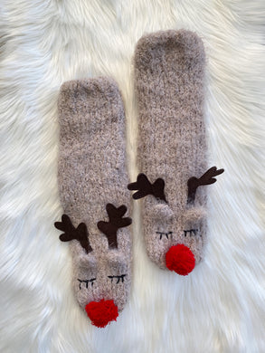 Reindeer's Are Coming Socks