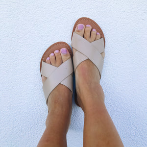 Pebble Natural Sandals