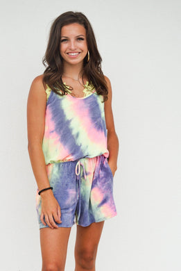 Can't Get Enough Tie Dye Romper