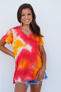 Sherbet V Neck Top