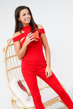 Load image into Gallery viewer, Red Straight Leg Jumpsuit