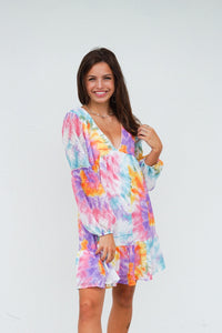 Over The Rainbow Tie Dye Dress