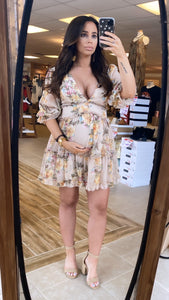 Floral Nude Dress