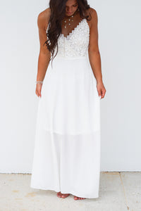 CROCHET TOP MAXI DRESS